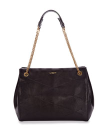 Medium Quilted Leather Shoulder Bag, Black