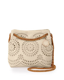 Noma Eyelet Crossbody Bucket Bag, Ivory