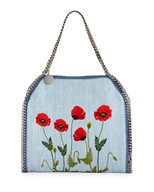 Falabella Baby Bella Flower-Embroidered Tote Bag, Denim