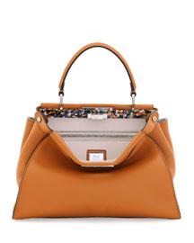 Peekaboo Small Leather Satchel Bag