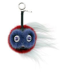 Monster Fur Key Chain for Handbag, Coral