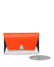 Anouk Mini Chain Clutch Bag, Orange