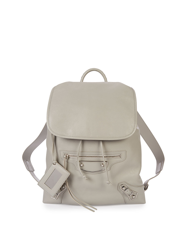 Balenciaga Metallic Edge Traveler Backpack, Light Gray, Light Grey