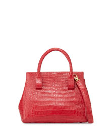 Small Crocodile Top-Handle Tote Bag