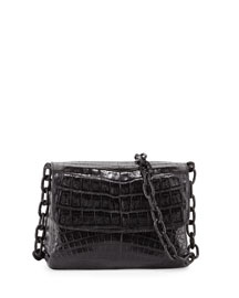 Crocodile Triple-Gusset Mini Crossbody Bag