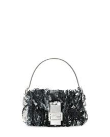 Baguette Paillette-Embellished Shoulder Bag