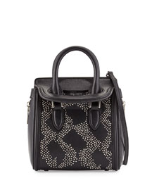 Heroine Flowers Small Stud Satchel Bag, Black