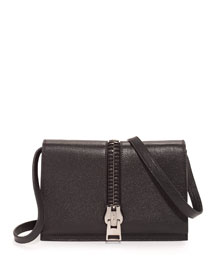 Sedgewick Large Zip-Flap Crossbody Bag, Black