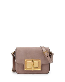 New Small Day Natalia Suede Shoulder Bag, Light Pink
