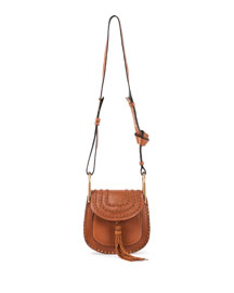 Hudson Mini Calfskin Shoulder Bag, Tan