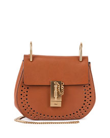 Drew Small Leather Saddle Bag, Caramel
