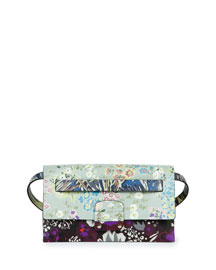 Mime Floral-Print Leather Belt Bag, Multi