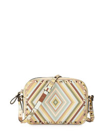 Rockstud 1975 Camera Crossbody Bag, Multi/Green