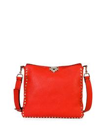 Rockstud Small Vitello Hobo Bag