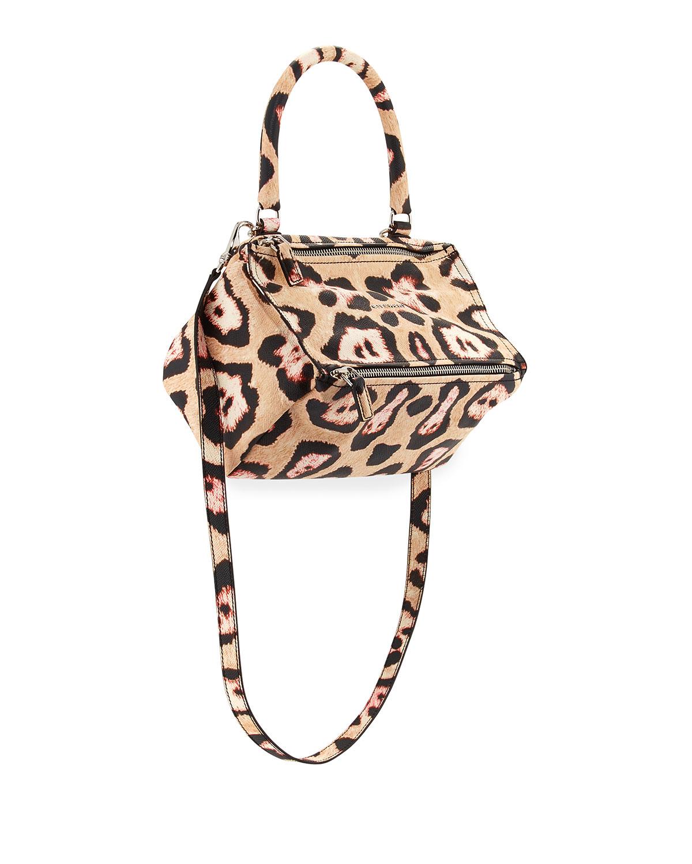 Givenchy Pandora Small Jaguar-Print Shoulder Bag, Size: S, Multi Color