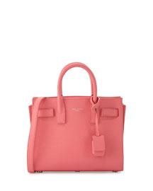 Sac de Jour Mini Grained Leather Tote Bag, Light Rose