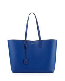 Large Shopping Tote Bag w/ Painted Edges, Cobalt/Black