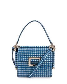 Miss Viv Carre Mini Gingham Shoulder Bag