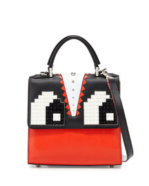 Alex Eyes Mini Shoulder Bag, Red/Black/White