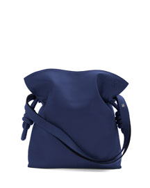 Flamenco Knot Small Bucket Bag, Marine