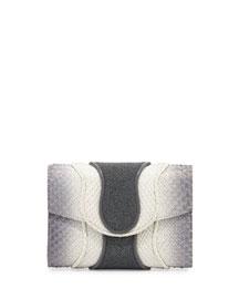 Jolie Python & Watersnake Clutch Bag