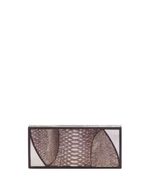 Marchese Python Box Clutch Bag, Gunmetal