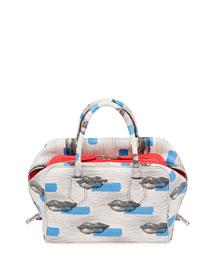 Daino St. Lips Inside Bag, White/Blue (Bianco+Azzuro)