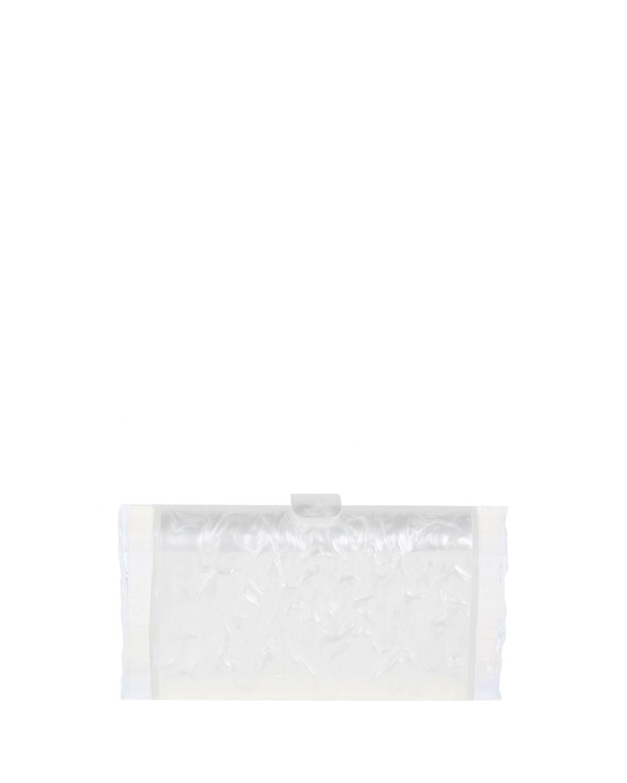 Edie Parker Lara Acrylic Backlit Clutch Bag, White