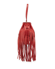 Mini Prince Fringed Bucket Bag