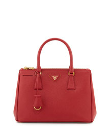 Saffiano Small Double-Handle Tote Bag, Red (Fuoco)