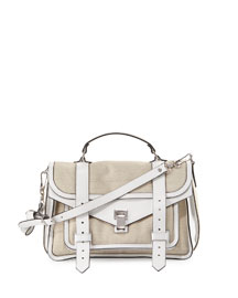 PS1 Medium Canvas Satchel Bag, Natural
