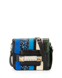 Exotic-Striped Mini Shoulder Bag, Multi Colors