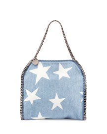 Small Falabella Star-Print Tote Bag, Blue