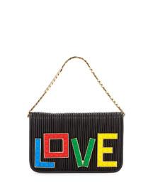 Micro Janis Lego Love Clutch Bag, Black