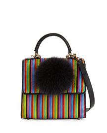Alex Mini Bunny Striped Shoulder Bag, Multi