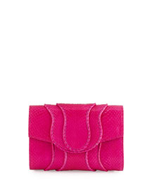 Jolie Watersnake Envelope Clutch Bag, Passion