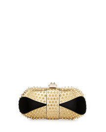 Grandotto Spike Clutch Bag, Gold/Black