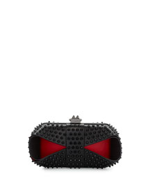 Grandotto Spike Clutch Bag, Black/Red