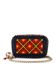 Piloutin Beaded Spike Clutch Bag, Multi
