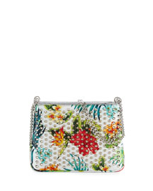 Triloubi Small Floral-Print Shoulder Bag, White/Multi