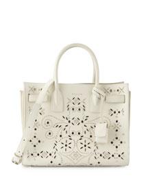 Sac de Jour Bandana-Studded Tote Bag, White