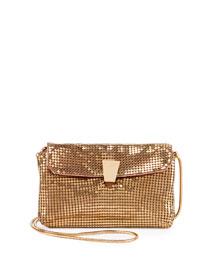 Bijoux Metallic Mesh Shoulder Bag, Golden