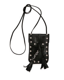 Anita Toy Flat Shoulder Bag, Black (Noir)