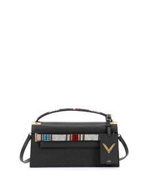 My Rockstud Leather Clutch Bag w/Strap, Black