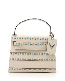 My Rockstud Rolling Small Shoulder Bag, Ivory
