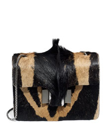 Sienna Antelope Fur Shoulder Bag, Natural