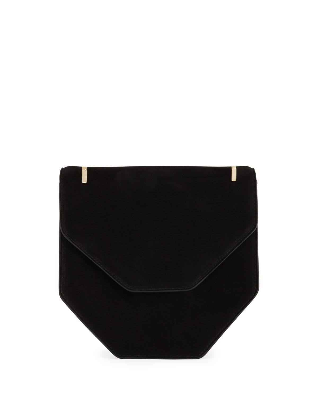 M2Malletier Amor Fati Leather Satchel Bag, Black