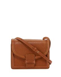 Leather Mini Shoulder Bag, Cognac