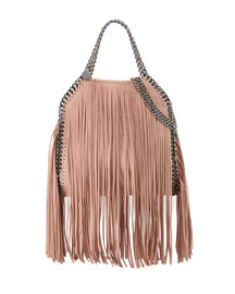 Falabella Fringe Mini Tote, Powder