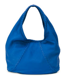 Cervo Large Hobo Bag, Bluette